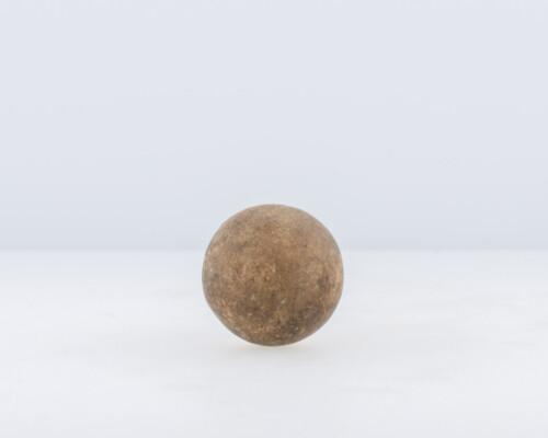 Close up of brown ceramic marble.