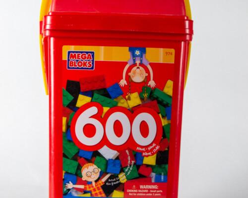 """Red """"Mega Bloks"""" bulk package."""