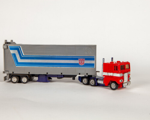 Early Optimus Prime transformer in the shape of an 18-wheeler truck.